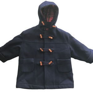 FIELDSTON CLOTHES Vtg Wool Toggle Coat Navy 3T